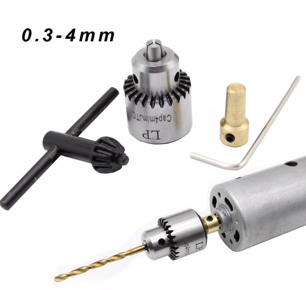 Hot Electric Drill Grinding Mini Drill Chuck Key Keyless Drill Chucks 0.3-4mm Capacity Range W/ 3.17mm Shaft Connecting Rod(China)