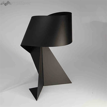 LFH  Nordic Style Modern Minimalist Creative Table Lamp Black Iron Bedroom Bedside Study Work Origami Decorative Table  Lamps table lamps princess modern minimalist bedroom bedside lamp wedding garden