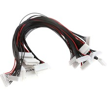 купить Hot Sell 10Pcs JST-XH Plug 8S Lipo Balance Wire Extension Lead 30cm For RC Car Boat Plane Accessories недорого