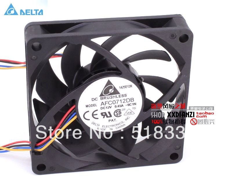 Streng 1 Stücke Bürstenlosen Dc Kühlung 7 Klinge Fan 8025 S 24 V 80x80x25mm Schwarz Heizung, Kühlung & Lüftung