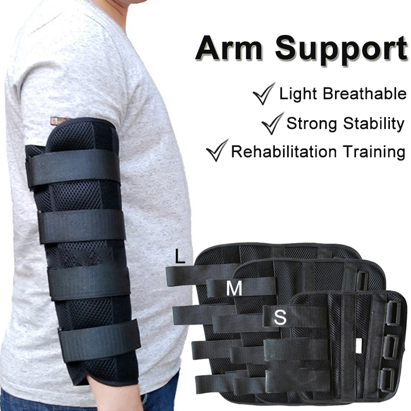 Elbow Fixed Arm Splint Support Brace Upper Arm Posture Corrector For Child Adult Stroke Hemiplegic Rehabilitation Training Tool