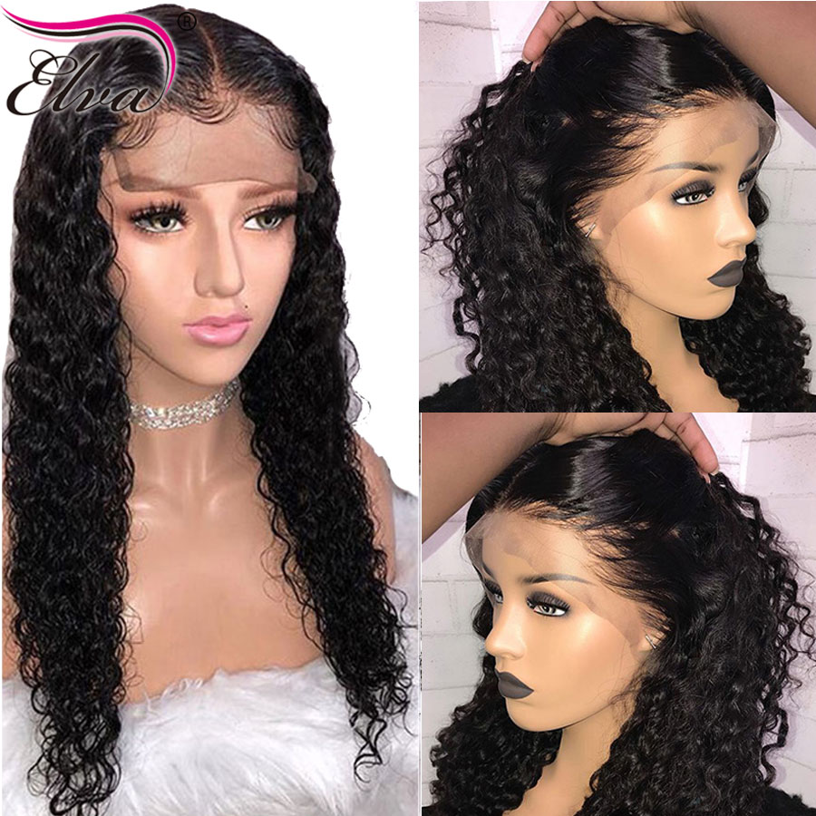 Elva Hair 13x6 Lace Front Human Hair Wigs With Baby Hair Pre-Plucked Hairline Curly Lace Wigs Bleached Knots Brazilian Remy Hair