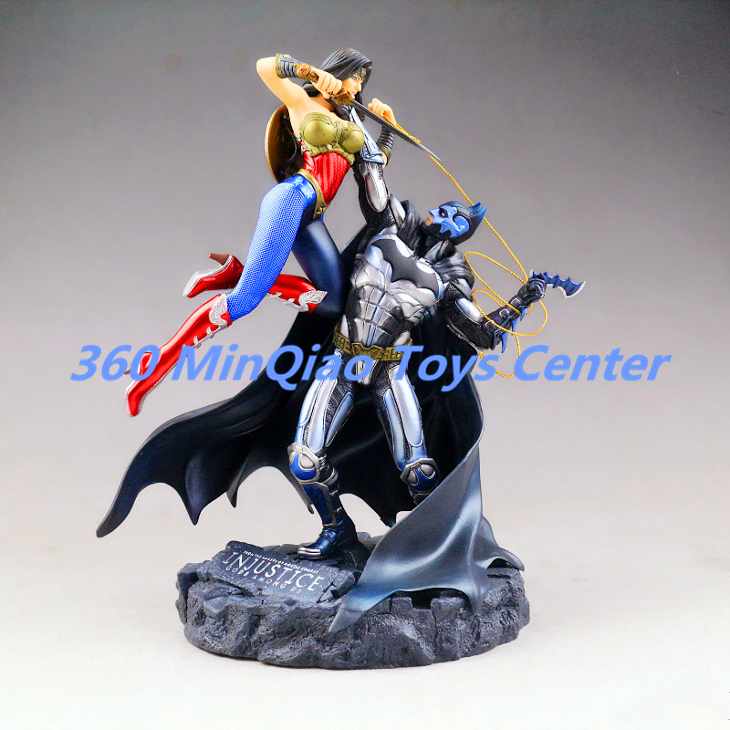 EMS Statue Avengers Injustice: Gods Among Us Statue Batman VS Wonder Woman Bust PVC Action Figure Collectible Model Toy WU806