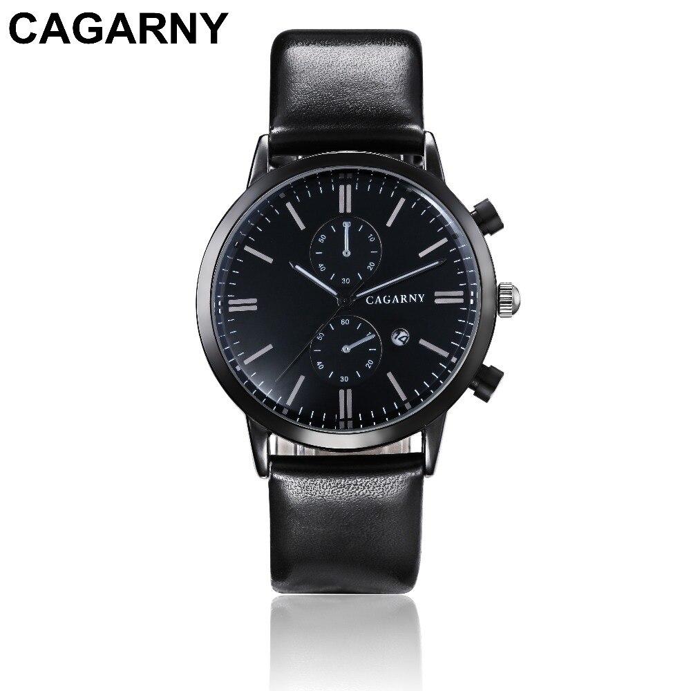 2018 Luxury Brand cagarny Men Sports Watches Men's Quartz Date Clock Man Casual Leather Fashion Wrist Watch Relogio Masculino 2019 drop shipping (3)