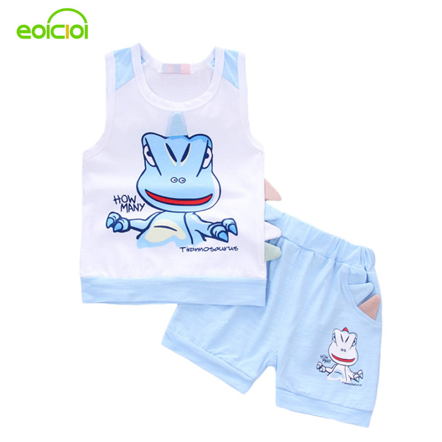 57741916c summer style cotton dinosaur printing toddler baby boys clothing ...