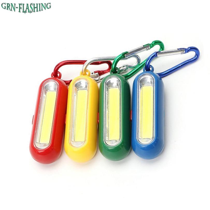 1 Stücke Tragbare Mini Cob Led Schlüsselanhänger Taschenlampe Schlüsselanhänger Schlüsselanhänger Taschenlampe Lampe Mit Karabiner Für Camping Wandern Angeln