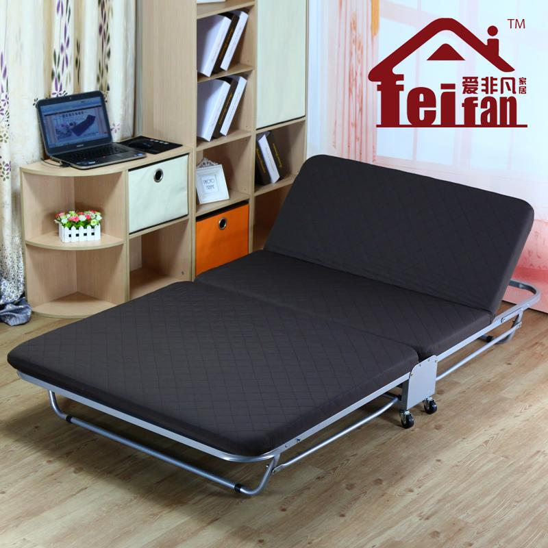 Double folding bed linen person siesta recliner simple sponge beds