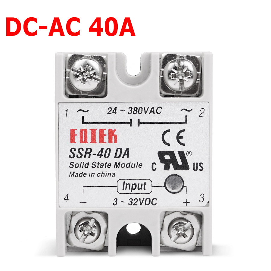 DC AC 220V Relay Industrial Solid State Relay SSR 40 DA 3 32V DC Input and 24 380VAC Output 40A AC Output Load|Relays|   - AliExpress