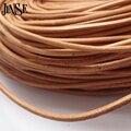 JINSE RLS006 10 м/лот 2 мм диаметр подлинная круглый корова кожаный шнур ювелирные изделия шнур DIY аксессуары