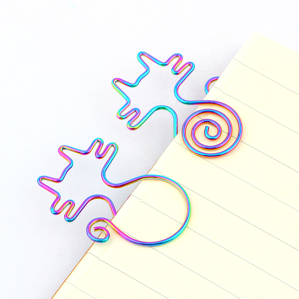 8Pcs/lot Cute Rainbow Cat Clips Bookmark Planner Tools Scrapbooking Tools Memo Clip Metal Binder Paperclip