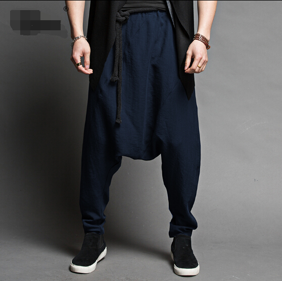 2015 New Loose big summer fashion men's thin casual long trousers harem pants