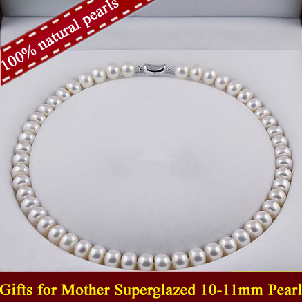 Pearl Choker Real Natural Pearl Necklace Freshwater Pearls Jewelry Beads Knotted Charms Classic Gifts Noble Ladies