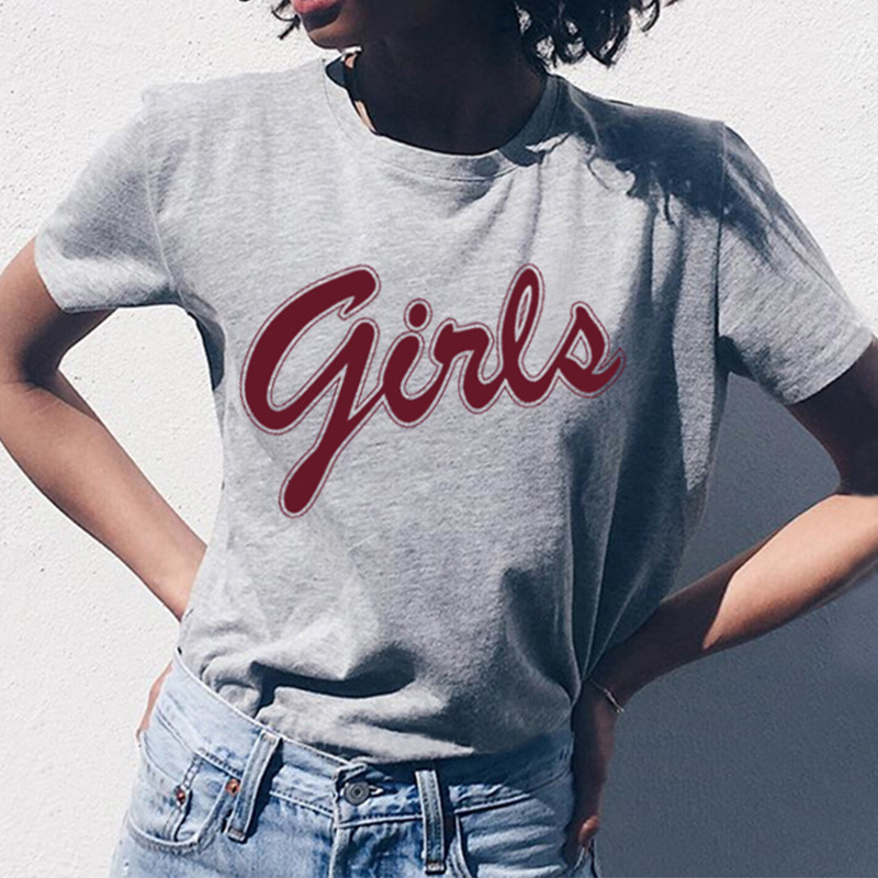 Girls T Shirt From Friends Letter Print Europe And America Casual Funny Gift Tshirt Outfit Tee Tops image