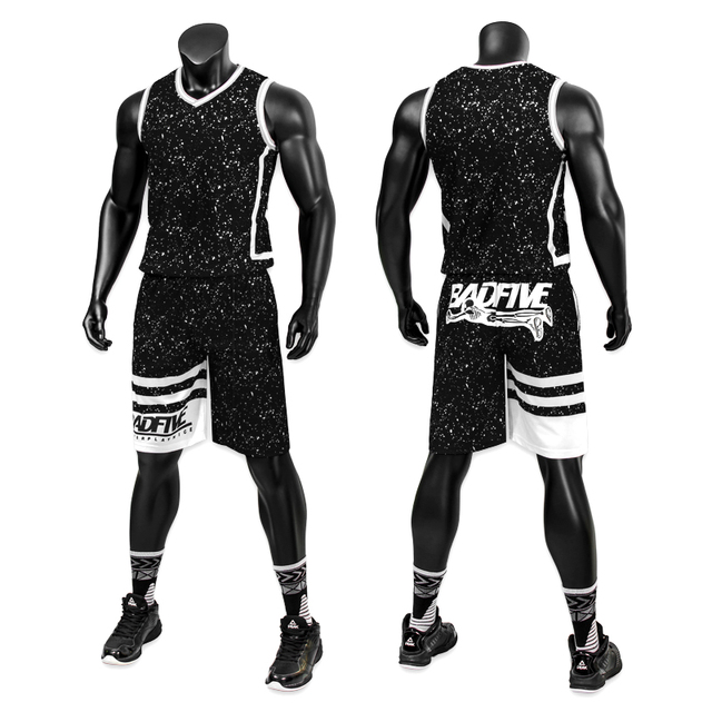 2018 new boy men s basketball jersey sets with pockets bad five