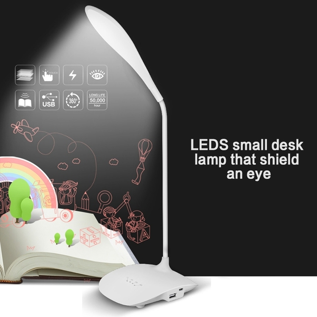 LED the study clip USB charging small desk lamp that shield an eye college students dormitory bedroom nightstand dormitories