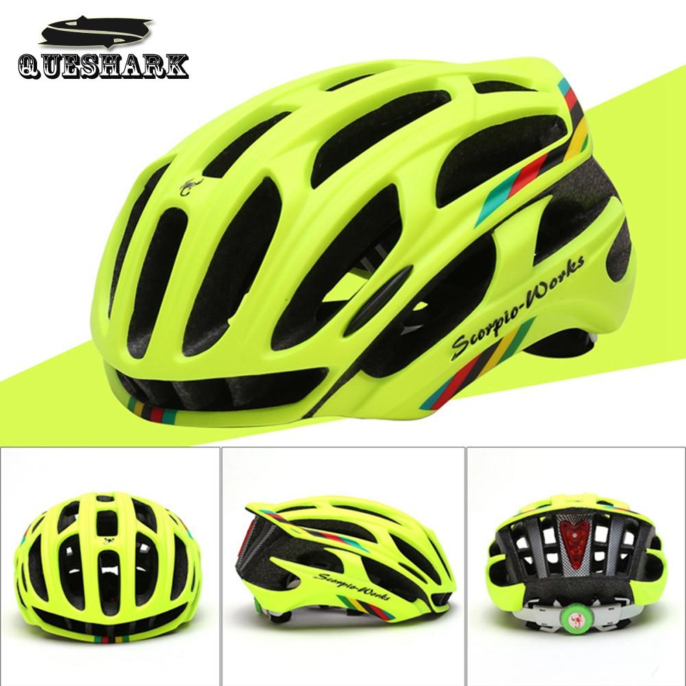 Queshark Cycling font b Helmet b font Road Mountain In mold Bicycle font b Helmet b