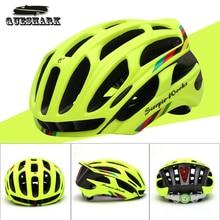 Queshark Ciclismo Casco Carretera Montaña Casco In-mold Bicicleta Ultralight Bike Helmet Con LED Luces de Advertencia