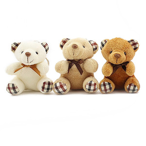 Image 5 - 8cm mini Bear Stuffed Animals Plush Toys For Children Kawaii Plush Soft Toys Keychain Baby Doll Speelgoed Christmas Gift