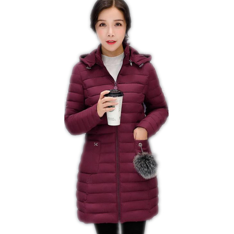 Women Light&Thin Winter Jackets 2018 New Plus Size 4XL Autumn Down Jacket Medium-Long Cotton-Padded Female Warm   Parkas   TopCQ2607