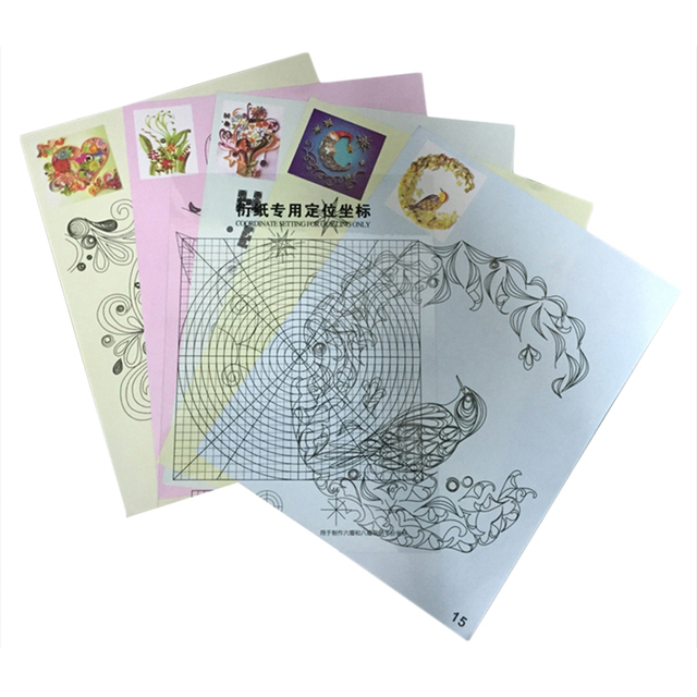 Making festival greeting card dedicated positioning coordinate blank making festival greeting card dedicated positioning coordinate blank stripping films 16 fine drawings paper quilling package m4hsunfo