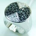 Comercio al por mayor y Al Por Menor de la Marca Nueva Moda de Cristal de Ley 925 de Ónix Negro Anillo de plata Del Envío Gratis F362 EE.UU. tamaño 6 7 8 9 10
