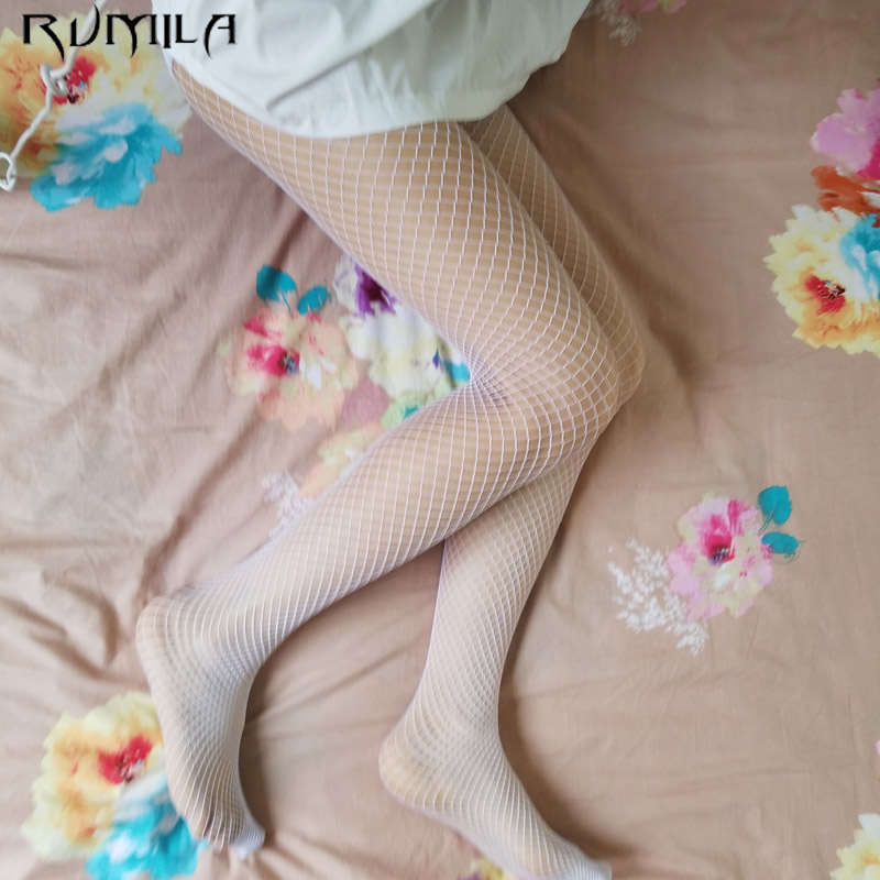 White Medium Grid SEXY Women High Waist Stocking Fishnet Club Tights Panty Knitting Net Pantyhose Trouser Mesh Lingerie TT016