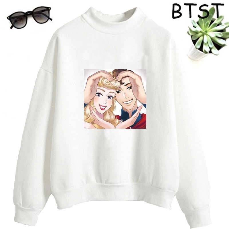 Kpop Kadın Kazak Polyester Nefes Gotik Hoodie Harajuku Ello ve Prens kadın kıyafetleri Kış Bayan Hoodies Kazak