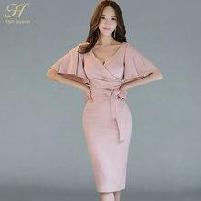 31d5ca6df H han reina verano mujeres arco sexy Pink bodycon lápiz retro formal de la  boda del partido ocasión especial vestido