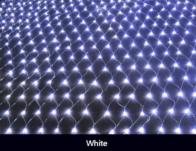 Junjue led net luzes 220 v decoração