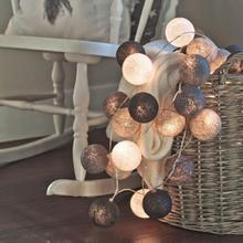 10 20 светодиодов Красочные хлопковые шаровые гирлянды, световые шарики на батарейке, сказочные лампы для праздника, Рождественская Домашняя вечеринка, украшения для спальни