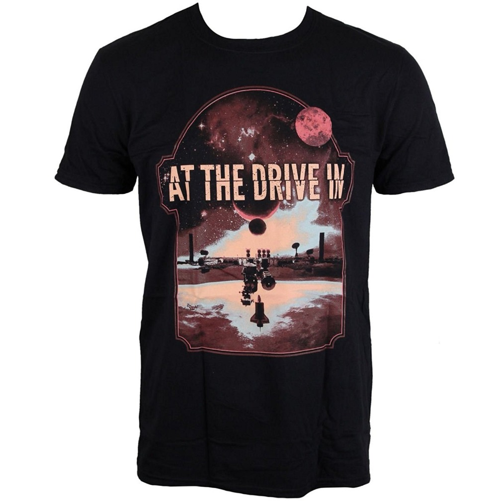 At The Drive-In Eclipse Live Nation Mens Fashion T-Shirt Short Sleeves Cotton T-Shirt Fashion
