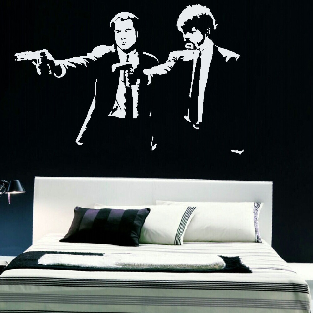 compare prices on black wall mural online shopping buy low price pulp fiction xtra large bedroom wall mural art sticker graphic decal matt vinyl black wall sticker