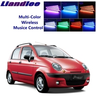 LiandLee Car Interior Floor Decorative Atmosphere Seats Accent Ambient Neon light For Chevrolet Spark 1997~2015