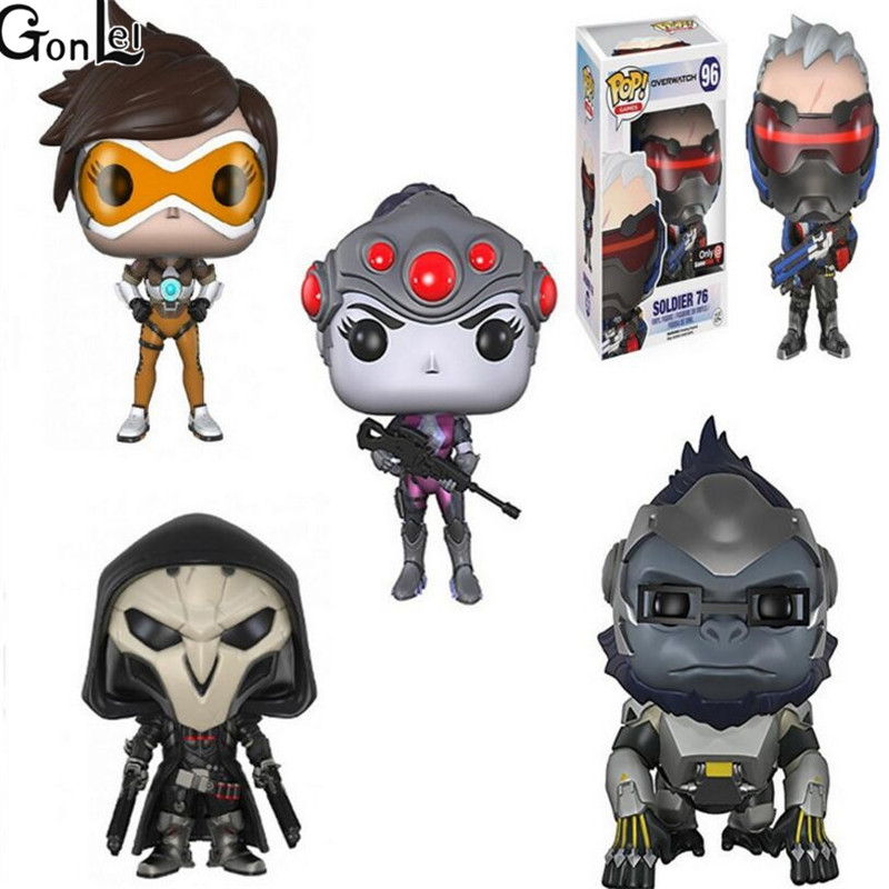 OW Game Figure Widowmaker Reaper TRACER Soldier 76 Figure Action & Toy Figures Collectible Model Toy for Children