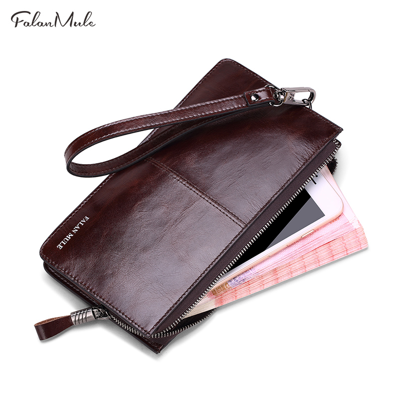 Large Capacity Genuine Leather Mens Wallet Brand Male Wallet Fashion Male Clutch Card Holder Coin Purse Wallet Men Purse Money contact s genuine leather women wallet large capacity long purse card holder fashion brand real cowhide clutch money bag wallet