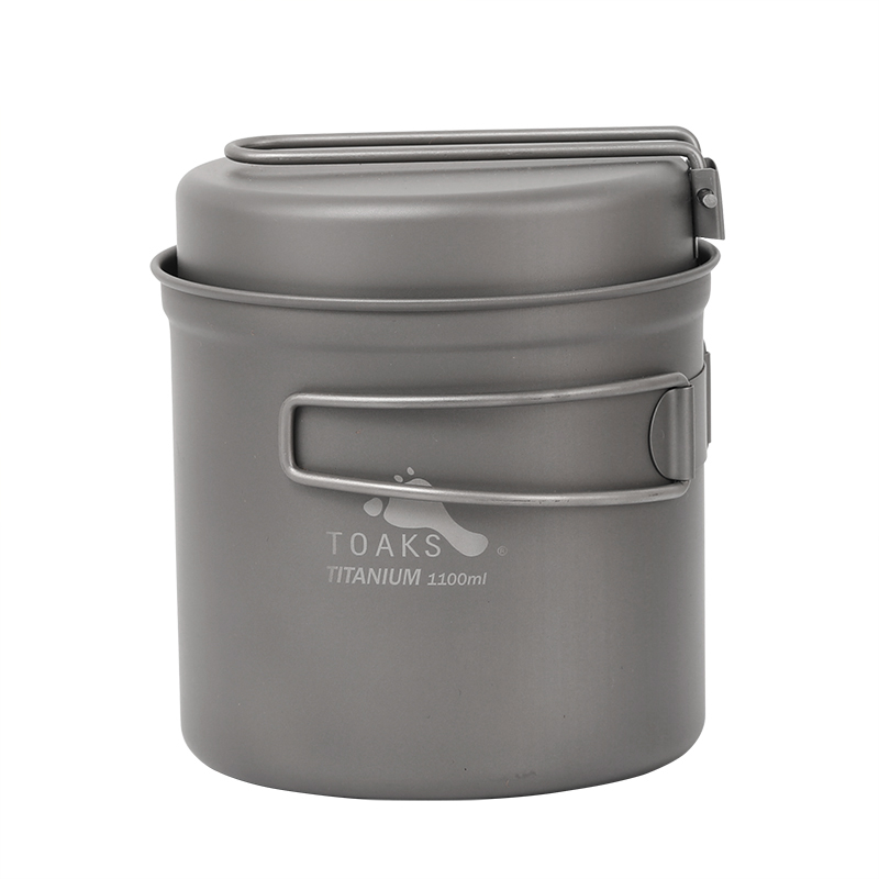 TOAKS 1100ml batterie de cuisine ensemble ultra-léger en titane Pot poêle en plein air Camping titane bol titane tasse pique-nique CKW-1100