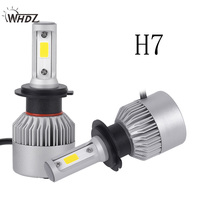 WHDZ 2Pcs H4 H7 H13 H11 H1 9005 9006 H3 9004 9007 9012 With COB Chips