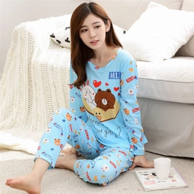Sleeved pyjamas Women nightwear 2