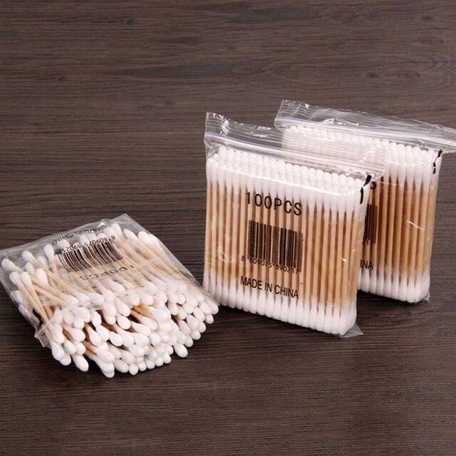 100 kusov drevených vatových tyčiniek 3