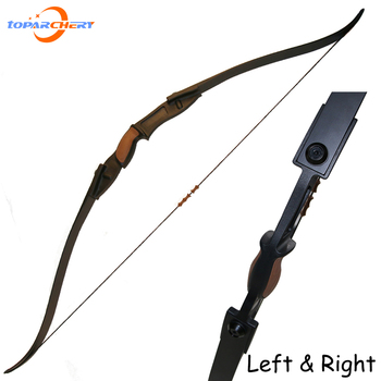 25lbs black Archery Target Shooting Plastic Game Bow hunting Recurve Bow Accessories double arrow rest  Right & left handed