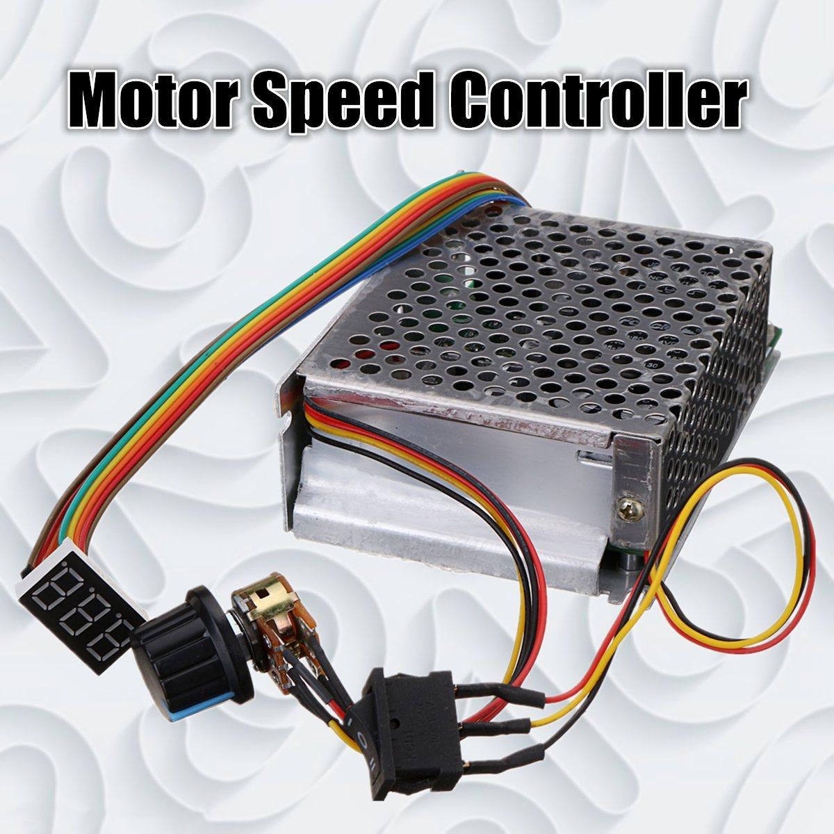все цены на DC10-50V 60A 3000W Reversible DC Motor Speed Controller PWM Control 12V 24V 36V 48V Forward-Stop-Reversal Brake Digital Display онлайн