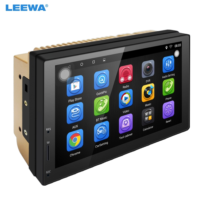 LEEWA NEW ! 7 7inch Ultra Slim Android 6.0 Quad Core Car Media Player With GPS Navi Radio For Nissan/Hyundai 2DIN ISO #CA5437 feeldo 7inch android 4 4 2 quad core car media player with gps navi radio for nissan hyundai universal 2din iso gift am3900