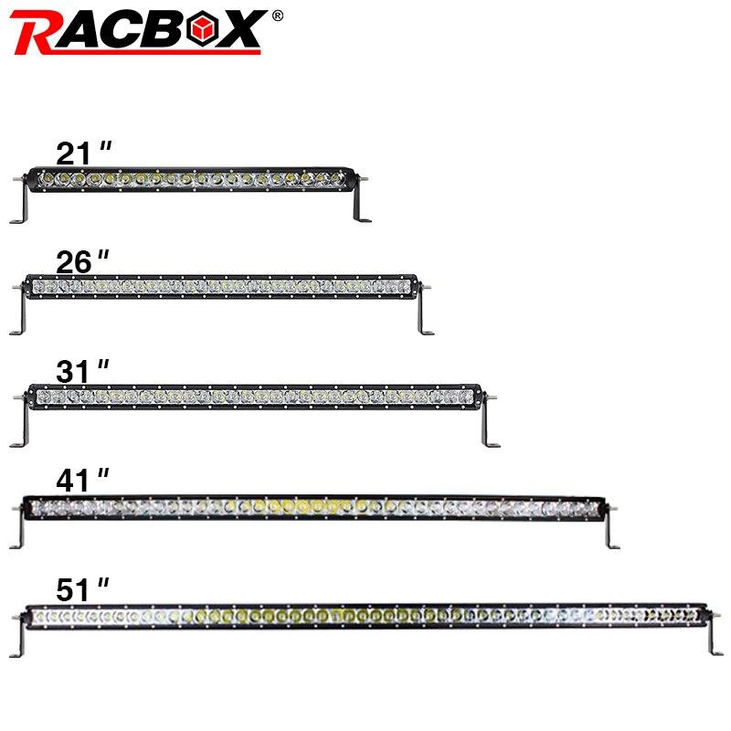 RACBOX 5D 22 26 32 41 51 LED Light Bar Single Row 100W 150W 200W 250W