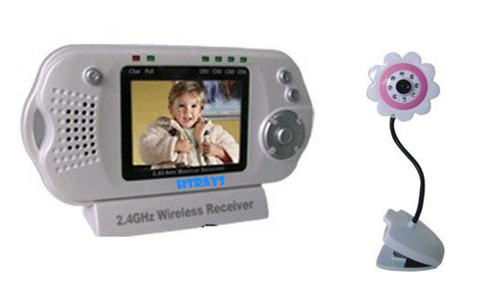 HTRAYS New Arrival 2.4Ghz Wireless baby monitor, flower camera ,2.5 inch LCD Screen  for your baby