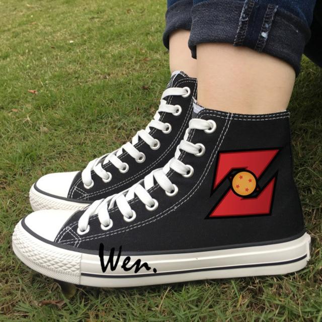 1  TBS Calissa Bleu Men's Dragon Ball z White High Top Canvas Shoes Dragon Ball z Canvas Shoes  Fille Chaussures Birkenstock noires fille OHQZCLf