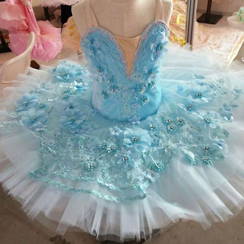 Customer size made pale blue spandex top bodice professional ballet tutu girl & women tutu balleria dance costume tutu