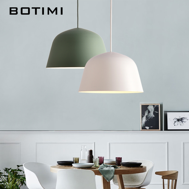 Kitchen Lamp Best Value Cabinets Botimi Colorful Macaron Pendant Lights For Dining Round Iron E27 Metal Led Hanging Restaurant Lighting Fixture