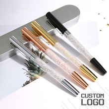 1pc Fashion Crystal Gel Pen Metal Engraved New Creative Signature Daily Office Student Stationery Gift Laser Custom Logo