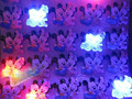 50pcs/lot LED Brooch light lovely Mickey Minnie Mouse Cartoon plastic Brooch Glowing Pin Brooch With Battery For Children Gift