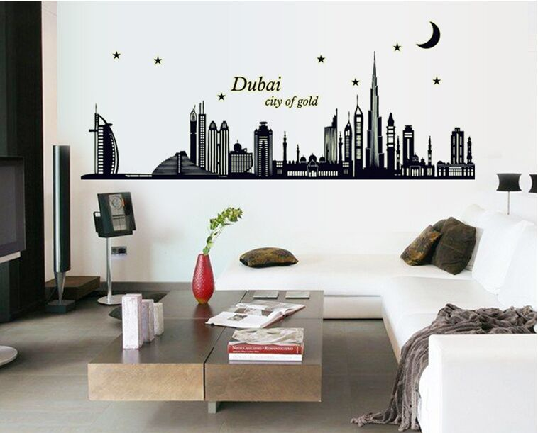 noctilucent dubai poster nature plant sticker butterfly home dec funny bedroom wall sticker decal poster home